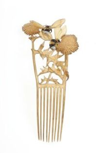 René Lalique, Ivory Comb with Bees