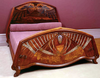 Butterfly Bed by Emile Galle