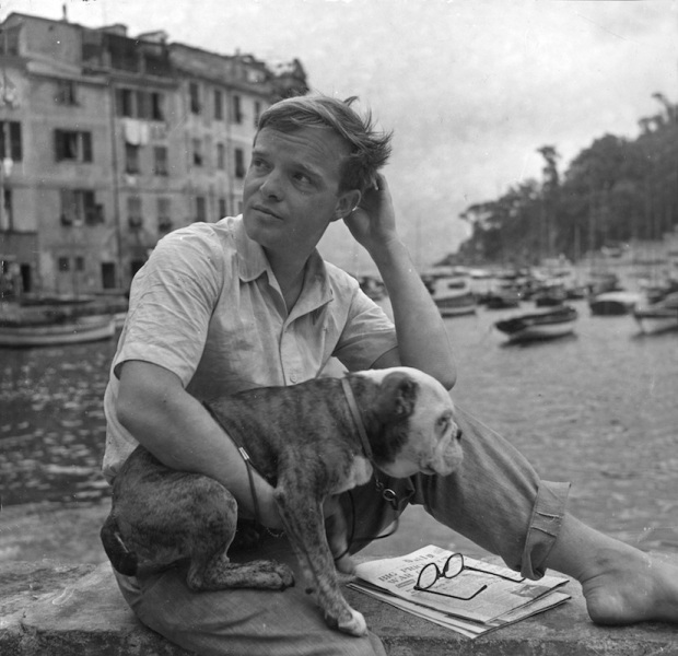 Truman Capote With His Dog