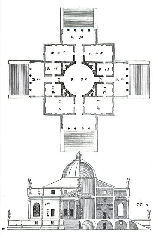 palladio la rotonda pianta plan map.png